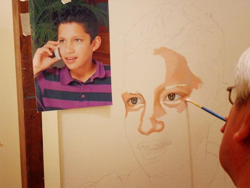 Cuadros modernos pinturas y dibujos como hacer un - Retrato oleo paso a paso ...