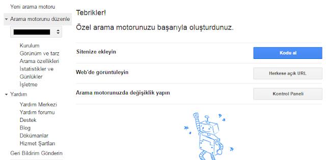 """""""Google Özel Arama"""" eklentisi"""