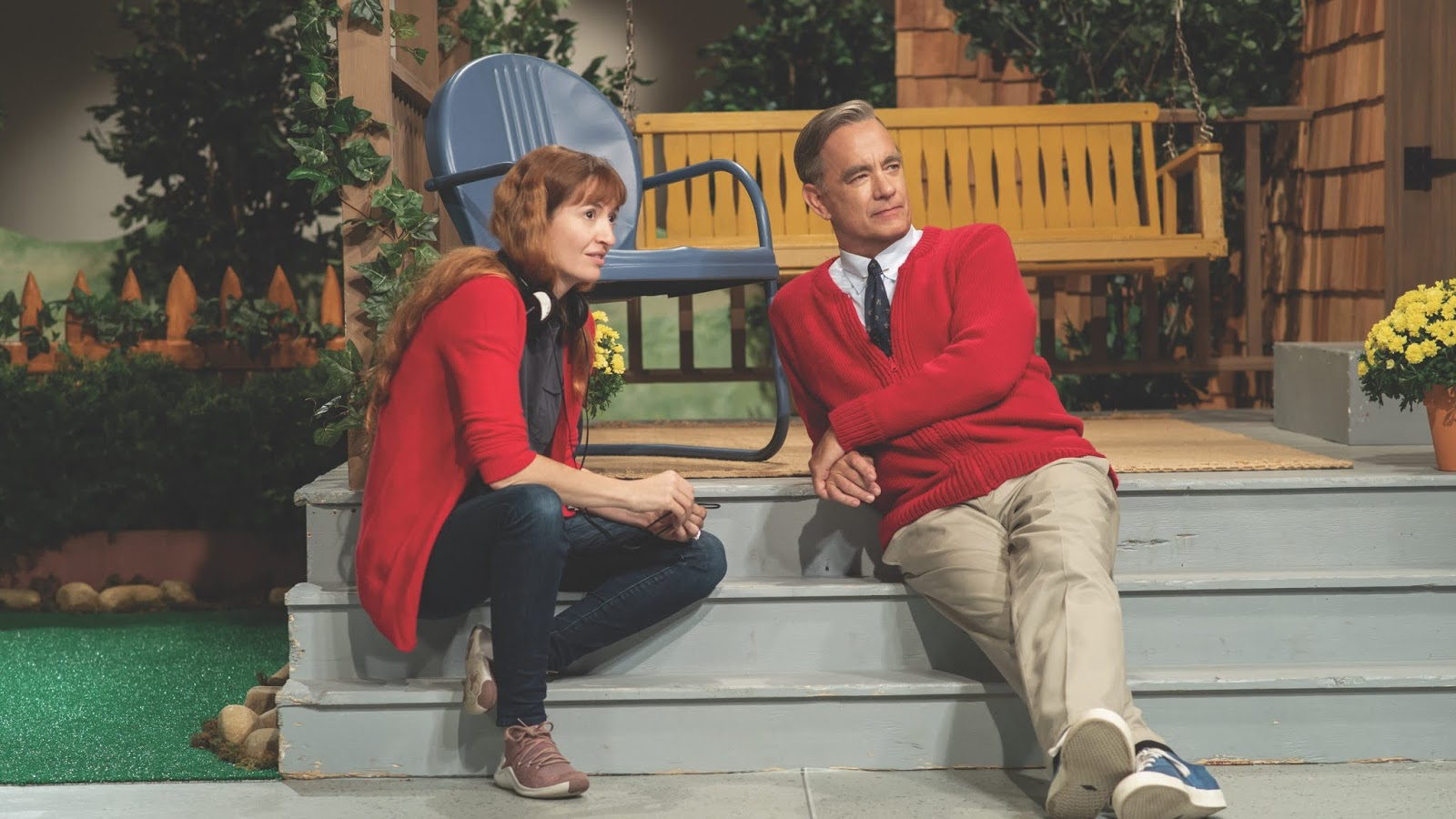A Beautiful Day in the Neighborhood - Marielle Heller and Tom Hanks