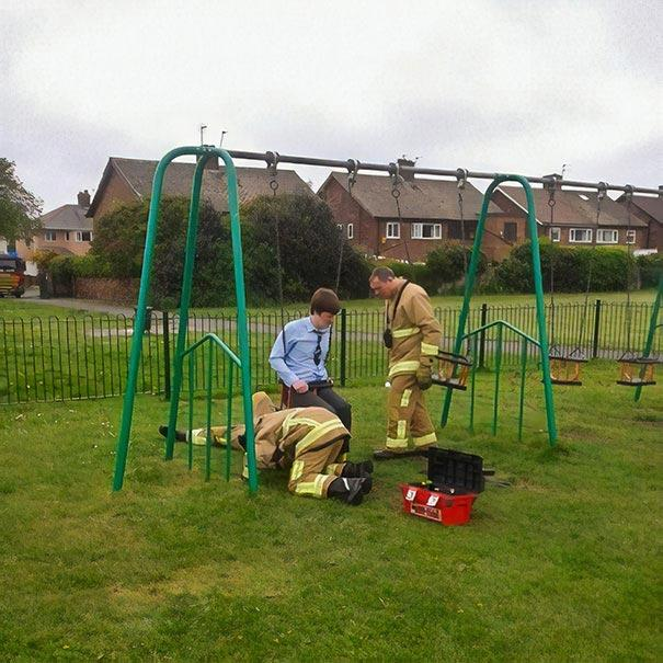 Times People Want To Remember Their Childhood and Stuck in The Playgrounds