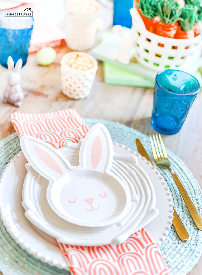 How to set a last minute Easter tablescape