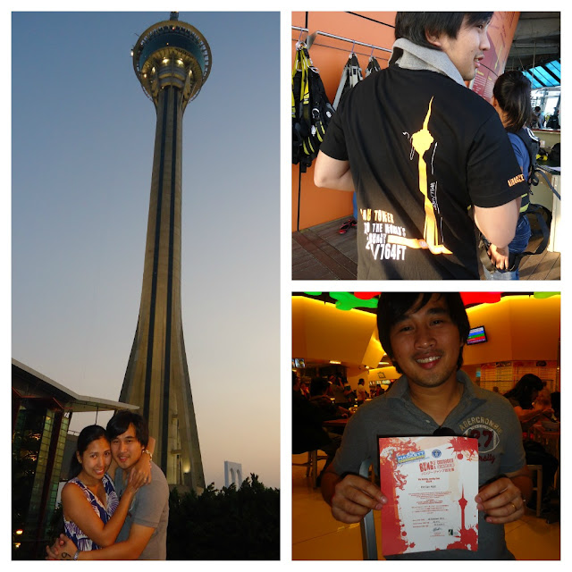 Ed did the bungy jump in Macau