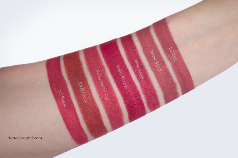 nabla perfect day swatch diva crime beverly milf rustic