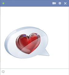 Speech bubble heart Facebook icon
