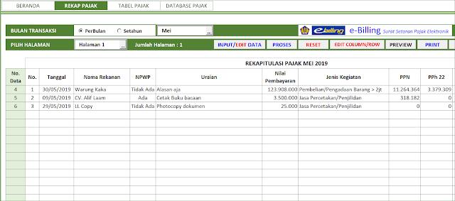 Aplikasi Excel Perhitungan Pajak Penghasilan