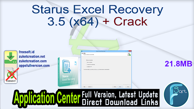 Starus Excel Recovery 3.5 (x64) + Crack