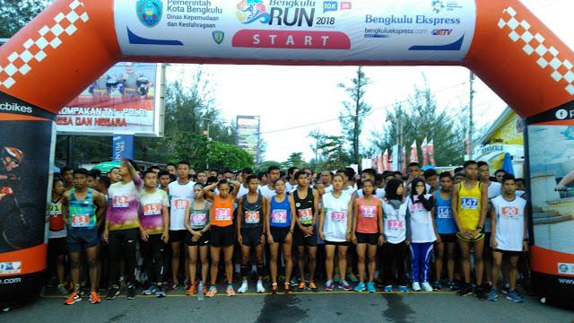 Ikuti Bengkulu Run 2018 tingkat Nasional, Atletik PALI Masuk Tujuh Besar
