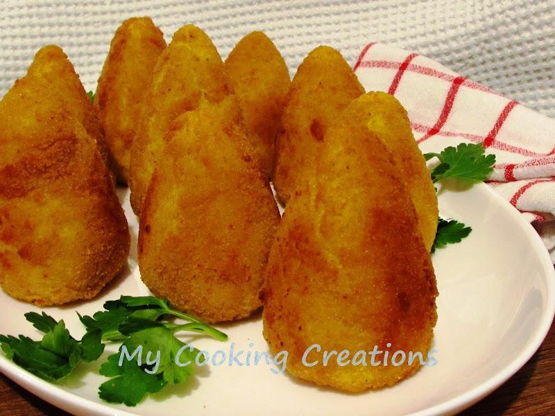 Аранчини - вкусни пълнени оризови топки стъпка по стъпка * Arancini ricetta classica siciliana