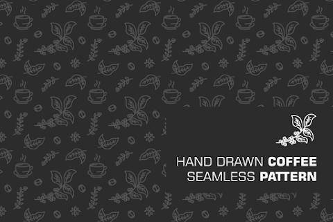 HAND DRAWN COFFEE SEAMLESS PATTERN