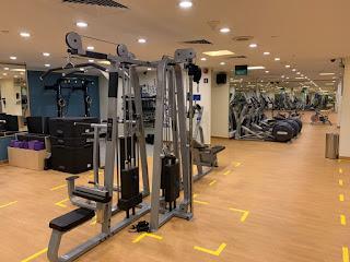Hotel gym at Hilton Singapore