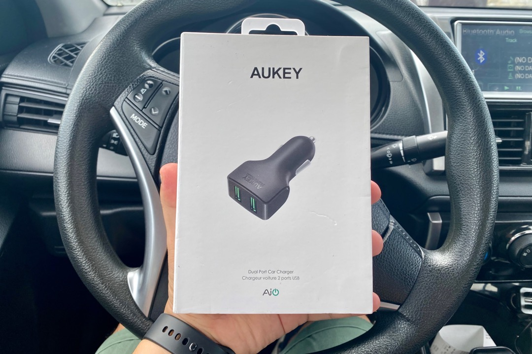Aukey Dual Port Car Charger Shopee 7.7 Sale