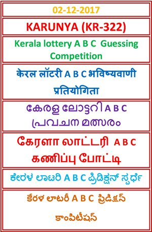 A B C Guessing Competition KARUNYA KR-322