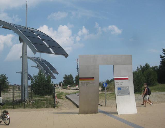 Grenze zwischen Deutschland und Polen auf Usedom