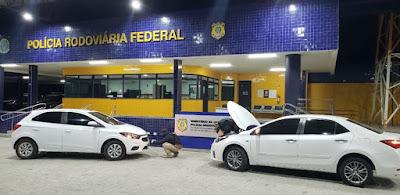 Em Santana do Ipanema, PRF/AL localiza na BR-316 veículos  com queixas de roubo