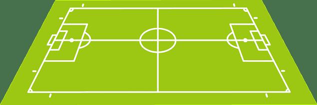 プロプルシヴ・フットボール (プロボール) のフィールド。