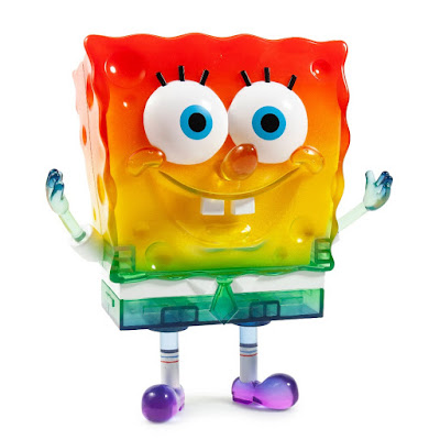"San Diego Comic-Con 2019 Exclusive SpongeBob 20th Anniversary 8"" Vinyl Figure Rainbow Edition by Kidrobot"