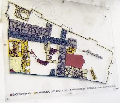 ilustração das ruínas no Arqueosítio da R. D. Hugo