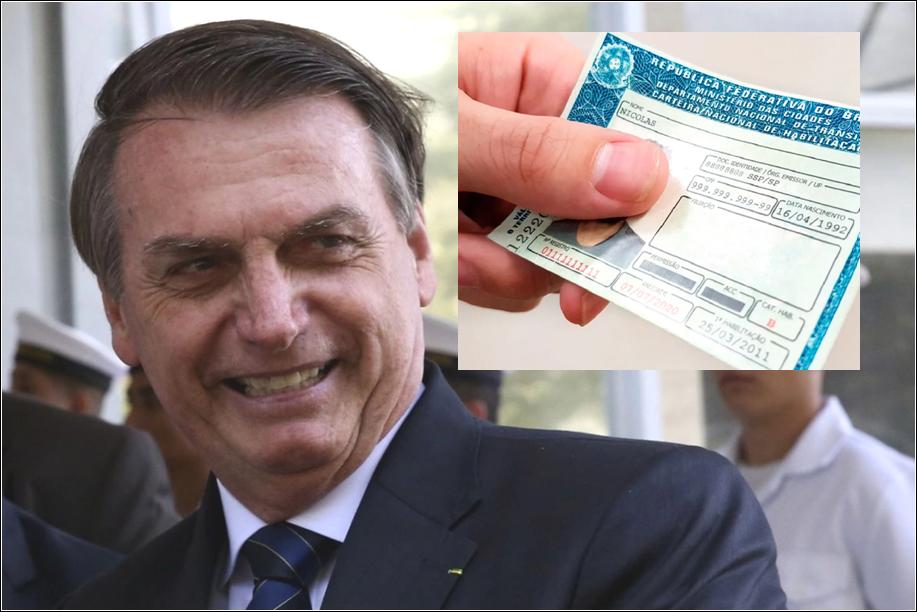 """Aprovada Lei que aumenta a validade da CNH e Bolsonaro comemora """"menos burocracia"""""""