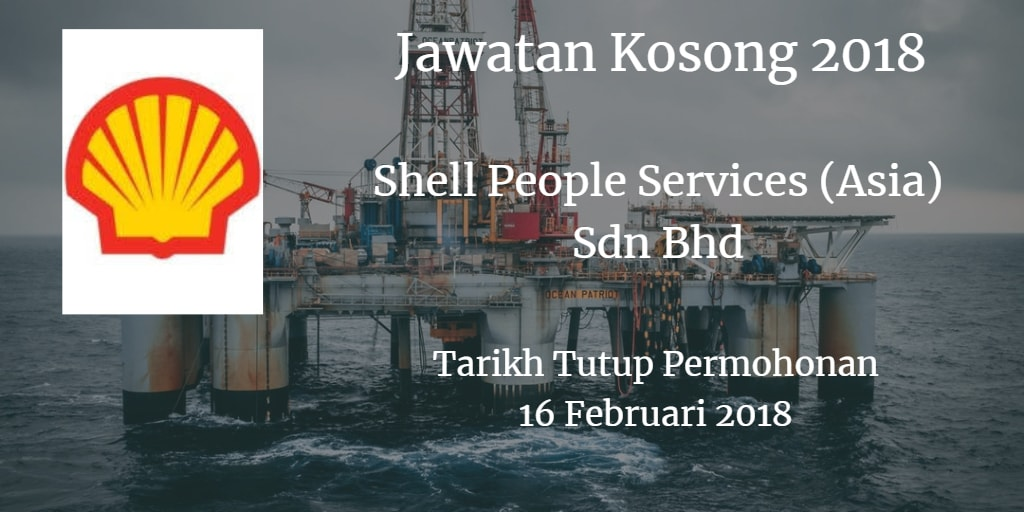 Jawatan Kosong Shell People Services (Asia) Sdn Bhd 16 Februari 2018