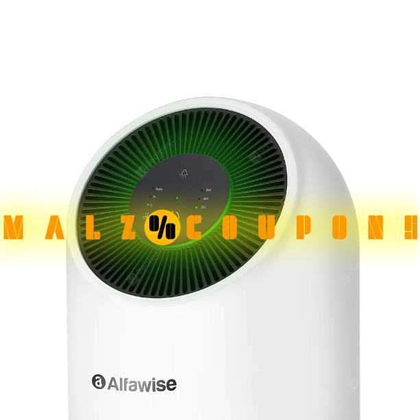 Display  Smart Air Purifier Brand Alfawise P2 HEPA  ( Discount 21% OFF )