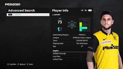 PES 2021 Faces Jordan Lefort