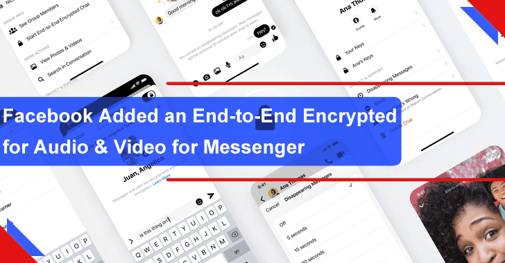 Facebook Added an End-to-End Encrypted for Messengers Audio & Video Call