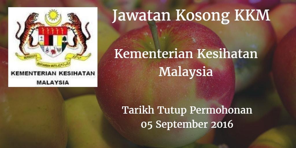 Jawatan Kosong KKM 5 September 2016
