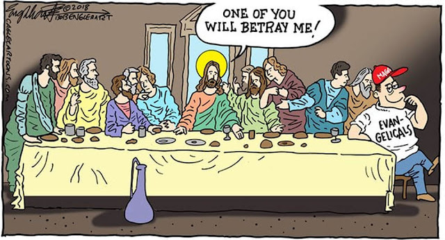 Jesus at the Last Supper saying,