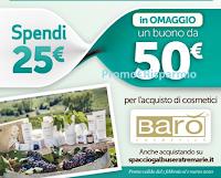 Logo Operazione a premi ''Dolcezza & Bellezza'' 2020: con Spaccio Galbusera e Le Tre Marie in regalo 50€ per l'acquisto di prodotti Barò