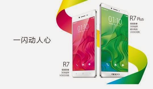 Harga Spesifikasi HP Oppo R7 dan Oppo R7 Plus