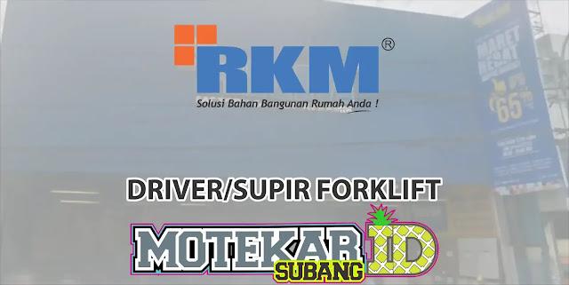 Lowongan Kerja Driver /Supir Forklift Subang Pamanukan 2019