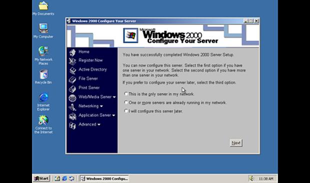 Tampilan Windows 2000