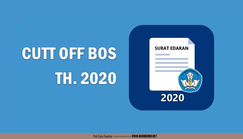 Pemberitahuan Pre Cut Off BOS Tahun 2020