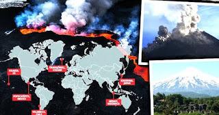 Los volcanes siguen despertando en estos últimos dias.