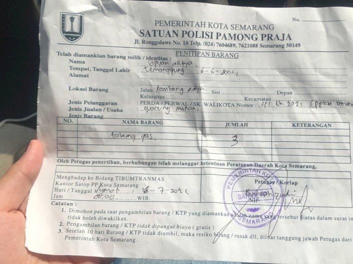 Satpol PP Semarang Sita Tabung Gas Pedagang, Alasannya Konyol Banget