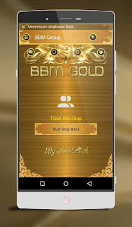 Download BBM MOD LUXURY-GOLD v.2.13.1.14 Terbaru 2016