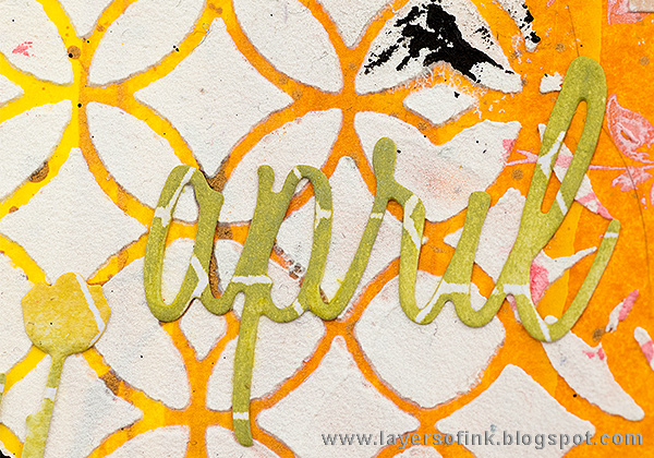 Layers of ink - April Art Journal Page by Anna-Karin