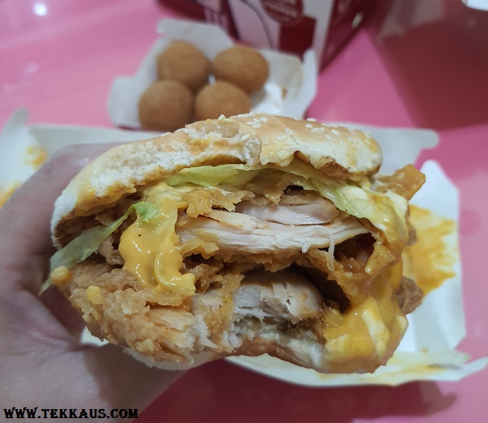 KFC Zinger Stacker With Double Zinger Fillets and Cheese