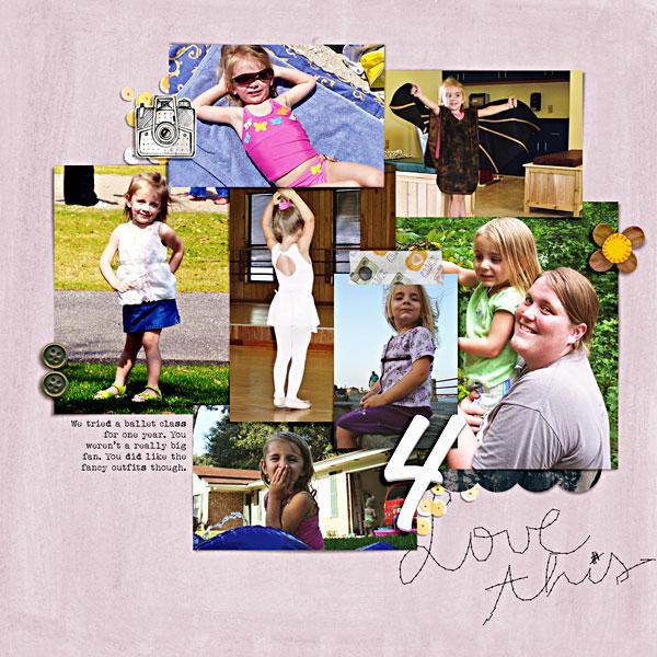 Graduation Scrapbook Album Year 4 {right}