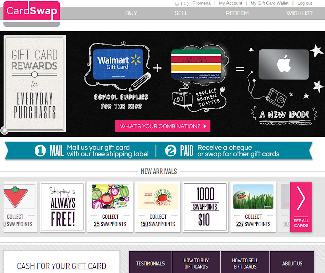 Save money, get points and buy gift cards online