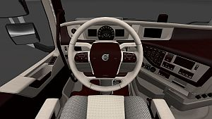 Red & White Lux skin interior for Volvo 2012