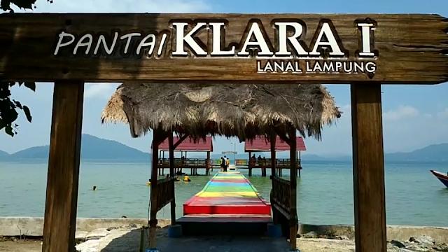 Pantai klara provinsi lampung