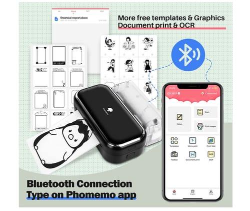 Phomemo Portable Thermal Bluetooth M03 Tiny Printer