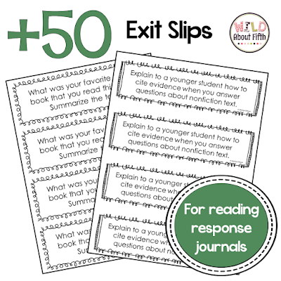 reading exit tickets for end of the year