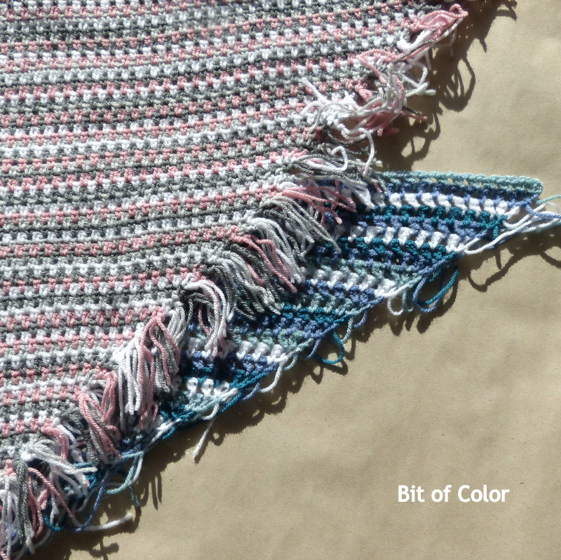 Bit Of Color Omslagsjaaltje Met Visgraatsteek