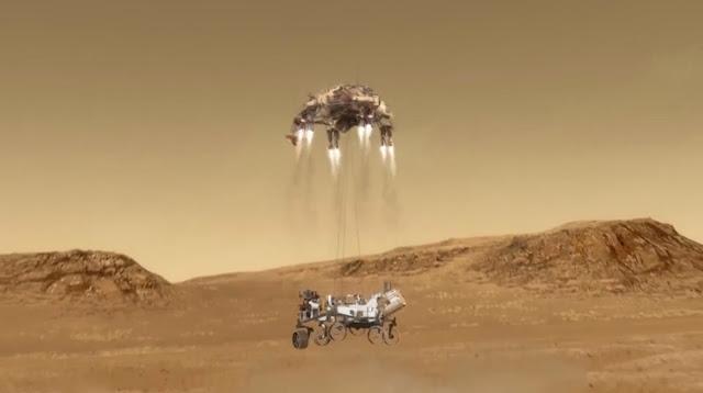 فيديو تاريخي يظهر لحظات هبوط مركبة ناسا على سطح المريخ بأمان بعد تخطيها (دقائق الرعب السبع)