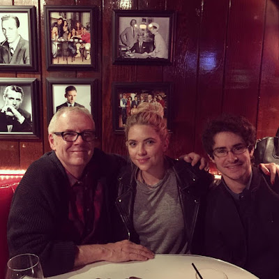 Ashley Benson (Hanna) and PLL director Norman Buckley dinner after filming 7x05