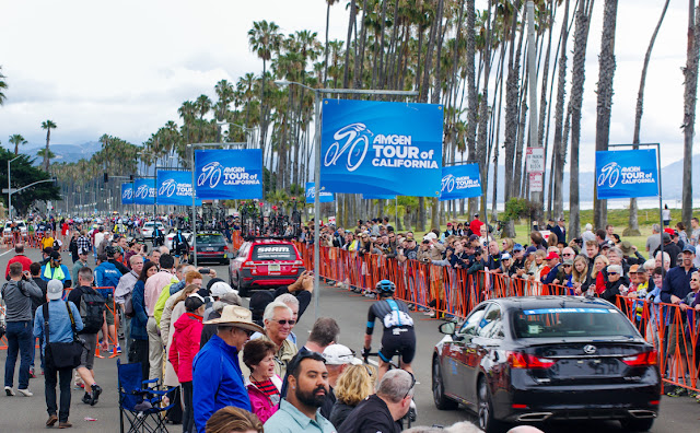 Fans at Santa Barbara Tour of California