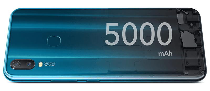 5,000mAh big battery