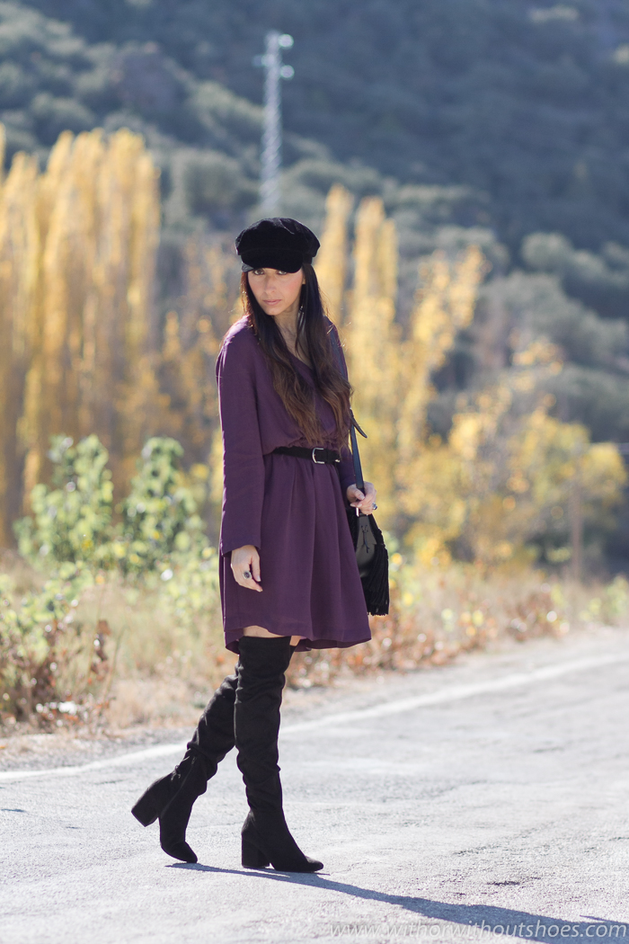 Ideas para combinar botas altas comodas de blogger influencer valenciana